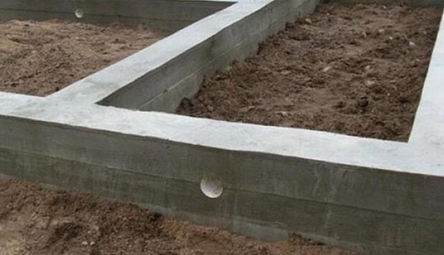 Высота надземной части фундамента