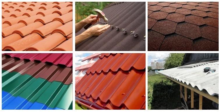 Какой угол крыши должен быть под разные кровельные материалы
