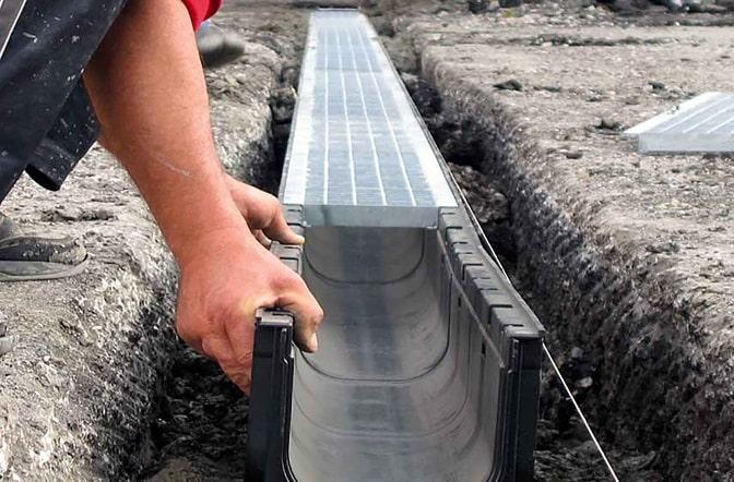 Дренажный канал для отвода воды